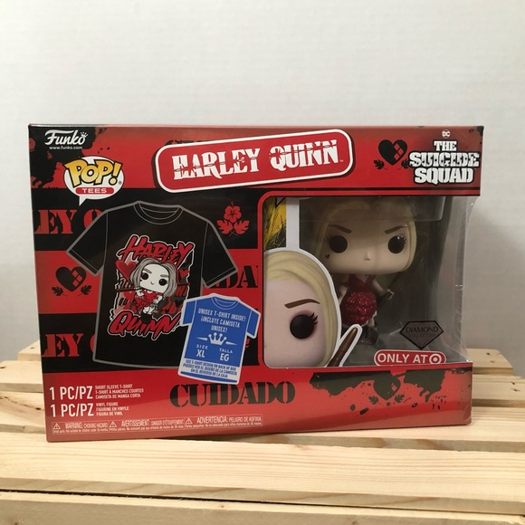 Funko Pop! & Tee The Suicide Squad Harley Quinn